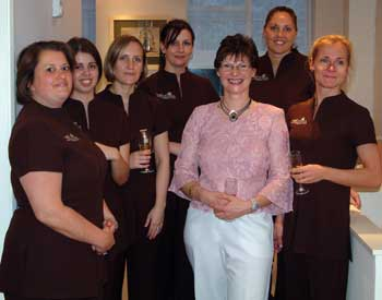 Joanna Philpot and some of the Mayflower Health and Beauty Clinic Therapists